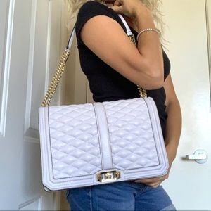 Rebecca Minkoff Bags - Rebecca Minkoff Lilac Quilted Flap Chain Love Bag
